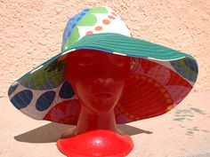 Colorfull Summer Hat by quiosquedetrapos on Etsy, €20.00