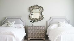 pretty guest bedroom in soothing neutrals