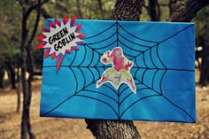 Can your little superheros catch Venom or the Green Goblin? This homemade game from The Party Wall is easy to make with poster board and your computer.Players take aim at the villain using silly string or squirt bottles