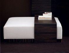 Ottoman with a table. Rodin & Paris - Italian Designer Nella Vetrina