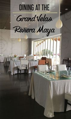 Dining at the Grand Velas Riviera Maya -- we break down all the different dining options at this all-inclusive luxury resorts in the Riviera Maya, Mexico with restaurant reviews to help you decide where to eat during your stay.