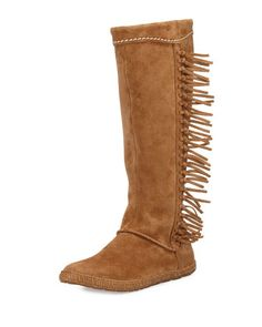 Mammoth Suede Fringe Knee Boot, Chestnut by UGG Australia at Neiman Marcus.