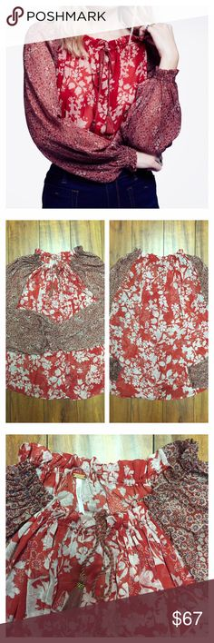 Free People Blouse Brand new with tag. Never been worn. Perfect condition. Size Small. Free People Tops Blouses