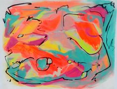 Abstract Painting Colorful Acrylic on Paper 11x14 by BobbiLaRae