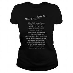 31bf6f395 William Shakespeare Sonnet 116 T Shirt T Shirts Hoodies 19 For Women