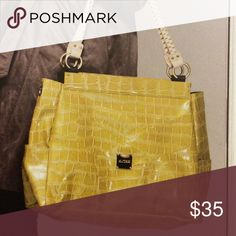 Miche Prima Parker shell only Parker prima is light olive green faux leather with geometrical inserts. Side pockets. Base bag not included, but available. New Miche Bags Shoulder Bags