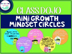FREE Class Dojo Mini Growth Mindset Circles #growthmindset #classdojo #whalecometo2ndgrade