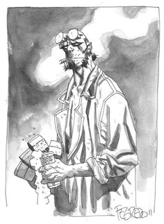 Hellboy's takes five by Duncan Fegredo
