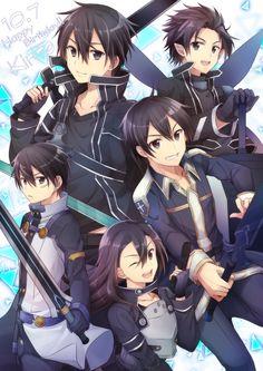 Kirito Kirigaya, Kirito Asuna, Kirito Sword, Sword Art Online Kirito, Otaku Anime, Manga Anime, Sword Art Online Wallpaper, Shadow Art, Slayer Anime