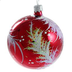 034-Twig-034-Glass-Christmas-Ball-Ornament-red-glossy
