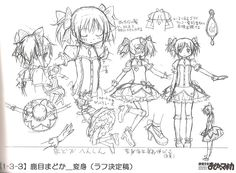 Mahou Shoujo Madoka Magica | Shaft / Kaname Madoka Character Sheet