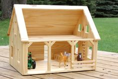 Wood Barn by simplertimestoys on Etsy, $135.00