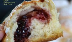 Αφράτα ψωμάκια γεμιστά με μαρμελάδα - cretangastronomy.gr Doughnut, Muffin, Breakfast, Desserts, Food, Morning Coffee, Tailgate Desserts, Deserts, Muffins