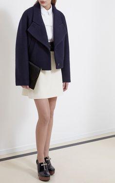 Marine Curly Wool Jacket by Carven - Moda Operandi