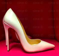 ** Christian Louboutin So Kate 120mm White Patent**