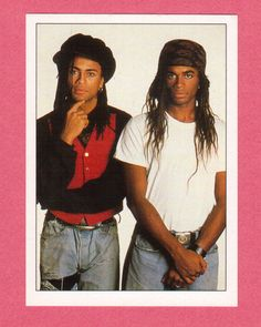 Milli Vanilli 1989 BBC Top of the Pops Music Sticker, Rob Pilatus & Fab Morvan