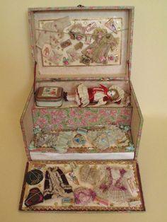 French Mignonnette Doll in original Au Nain Bleu presentation box
