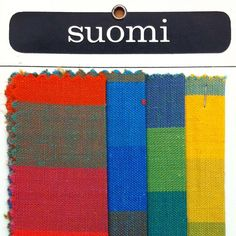 """Suomi"" Textiles, Herman Miller, Made in Finland, 1969"