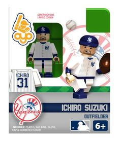 Ichiro Suzuki New York Yankees OYO Building Toy MLB Collectible Figure by Oyo. $8.99. OYO minifigures are building toys made for the sports fan in all of us. OYO Sportstoys are minifigures designed to resemble Major League Baseball players, and are new to the roster of officially licensed Major League Baseball products in 2012.