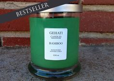 Take a time-out from your day to recharge your mind with this invigorating fusion of fragrant bamboo, orchid, jasmine, ginger, musk and clove notes. This is a medium scent candle.  #greencandle #holidaycandle #holidaygift #homeaccessory #soywaxcandle #paraffinwaxcandle #12ozjarcandle #peace #zen #etsyshop #gehatihome #gehatiaccessories