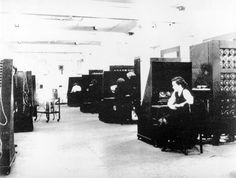 Code-breaking on 'bombe' machines in Middlesex, c.1943 Credit: Bletchley Park Trust / SSPL