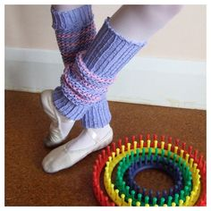 Loom Knit -Knifty Knit Round Loom Leg Warmers from FitzBirch Crafts.