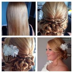 My Brides hairstyle I created today