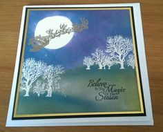 First Christmas card of 2015 working from a design in Crafter's Inspiration magazine.