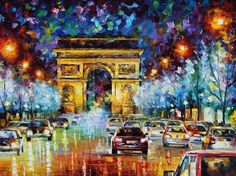 Paris Flight — PALETTE KNIFE Oil Painting On Canvas by AfremovArtStudio, $339.00