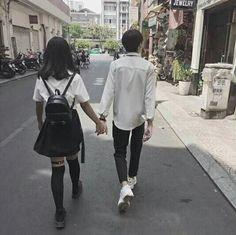 We walk hand in hand ❤️ Mode Ulzzang, Ulzzang Girl, Korean Couple, Korean Girl, Cute Couples Goals, Couple Goals, Cute Couple Pictures, Couple Photos, Couples Walking