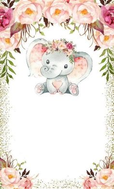 Elephant Baby Showers, Baby Elephant, Baby Boy Shower, Tarjetas Baby Shower Niña, Baby Shower Invitaciones, Baby Shawer, Baby Art, Baby Animal Drawings, Cute Drawings