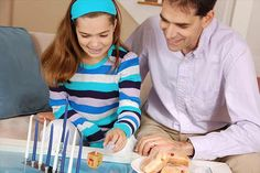 30 Hanukkah games and activities for the whole family to enjoy during the traditional Jewish holiday. Feliz Hanukkah, Hanukkah Crafts, Hanukkah Decorations, Hannukah, Hanukkah 2016, Hanukkah Celebration, Halloween Activities For Kids, Games For Kids, Diy For Kids