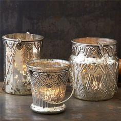 Chambord Mercury Glass Tealight Candleholder Set of 3