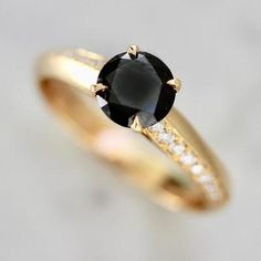 Nick Engel Ring Current Ring Size 5.75 Wallflower Round Cut Black Diamond Ring Diamond Gemstone, Diamond Rings, Gemstone Rings, Round Cut Diamond, Black Diamond, Alternative Engagement Rings, Right Hand Rings, Three Stone Rings, Gold Bands