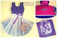 Ballerina notebook and frame