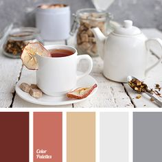 brick color, burnt umber color, caramel color, color of tea, color silver, color smack of mystery, color sweet rest, dirty white, gray color, light gray, red-brown, reddish brown, shades of brown, warm shades of brown.