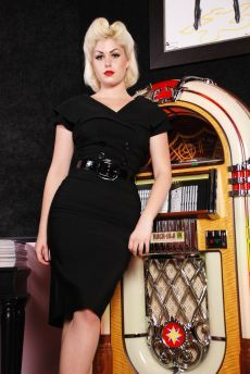 """Secretary Black Pencil"" dress, ""Bettie Page Clothing"", inspired Vintage Inspired Dresses, Vintage Dresses, Vintage Outfits, Vintage Fashion, Vintage Style, Retro Style, Pin Up Dresses, Fashion Dresses, Black Pencil Dress"
