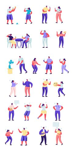 Flat People Character Creator Kit - Vector Illustration People Illustration, Flat Illustration, Character Illustration, Vector Illustrations, Character Creator, Character Design, Vector Creator, Cartoon Template, Vector Animation