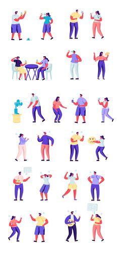 Flat People Character Creator Kit - Vector Illustration