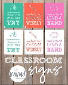 motivational monday: Classroom Signs - Mama Miss