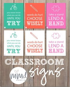 motivational monday: Classroom Signs