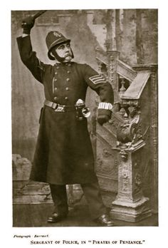 "Barraud photo of Rutland Barrington as the Sergeant of Police in the original London production of ""The Pirates of Penzance"" in 1880."