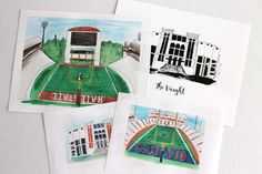 In honor of college football's opening week, I am sharing free printables for Ole Miss and Mississippi State fans of Davis-Wade and Vaught-Hemingway Stadiums! A few years ago, I would have never been very excited about football, but now I'm looking forward to it. It could just have something to dowith melooking forward to autumn in general, but I'm still excited. Ahh. I'm so glad cooler weather and pumpkin and pecan flavored everything will be here soon. So, here arethree different FREE…