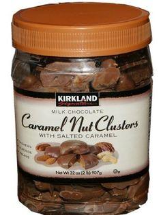 Kirkland Milk Chocolate Caramel Nut Clusters with Salted Caramel. Net Wt 32 Oz (2lb) 907g. , http://www.amazon.com/dp/B005LDXAMG/ref=cm_sw_r_pi_dp_uZ3Mpb1AXQ0B1