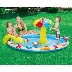 """$32My Sunshine 91"""" x 64"""" x 36"""" Play Center Inflatable Swimming Pool"""