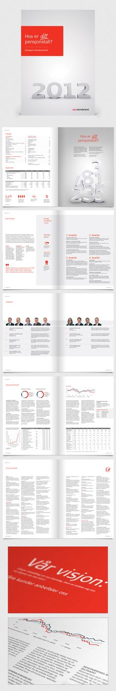 Norwegian Financial institution Storebrand Annual Report by Design Container Corporate Id, Corporate Brochure, Business Brochure, Corporate Design, Corporate Profile, Paper Design, Book Design, Layout Design, Annual Report Layout