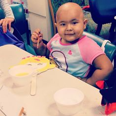 Check out this beautiful little patient having fun at a One Mission art therapy day! #donatetoday