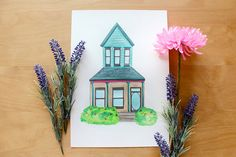 Custom House Portrait - Personalised Illustration of your Home by Whimsy Milieu