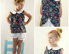 Gracelyn vestido niñas PDF patrón tallas 2 3 4 5 por LuxePatternCo