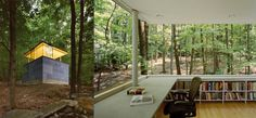 The Scholar's Library, designed by Peter Gluck and Partners, Olivebridge, United States [via]